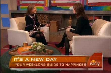 Giving advice about happiness on CBS Early Show