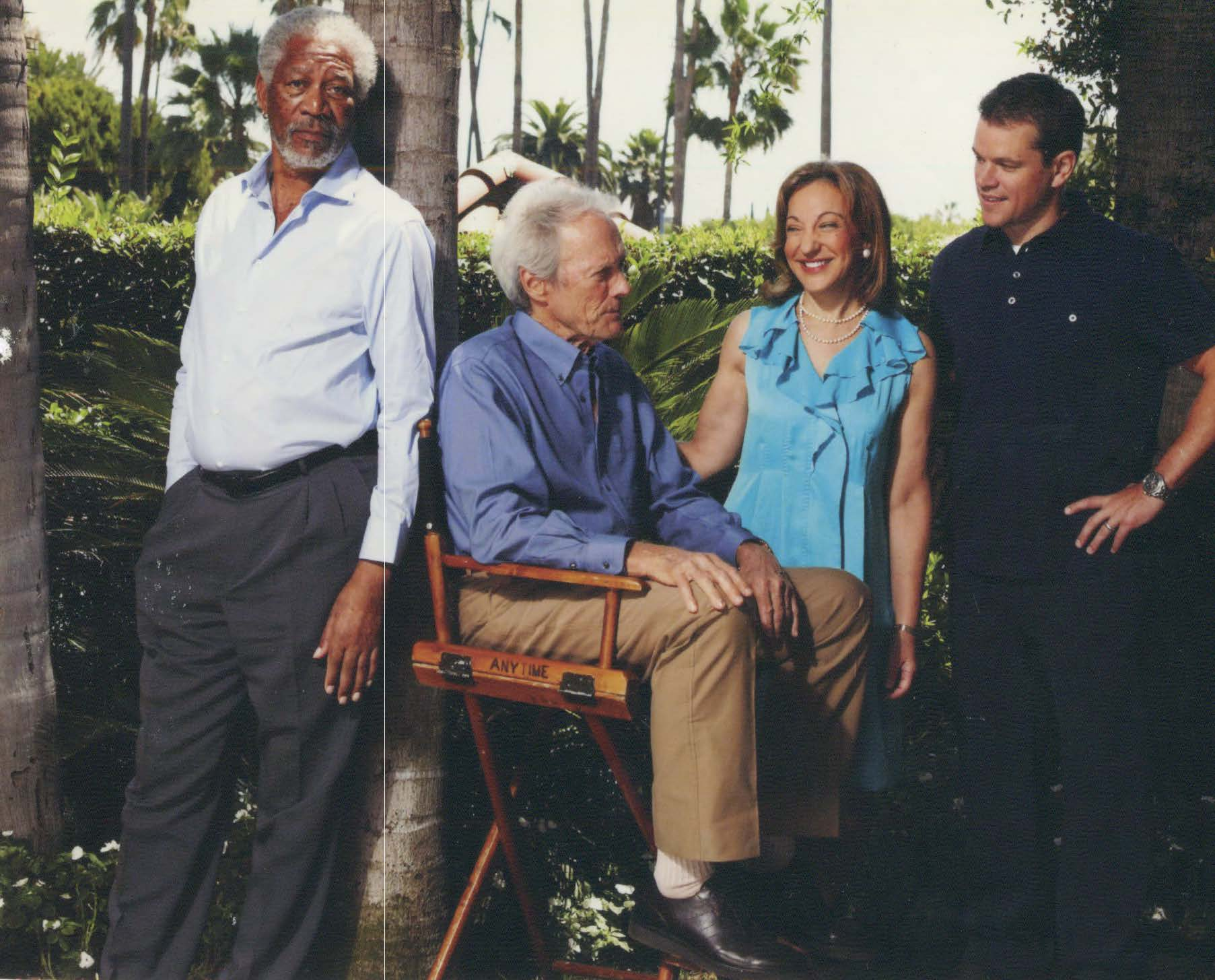 An afternoon interviewing Morgan Freeman, Clint Eastwood, and Matt Damon